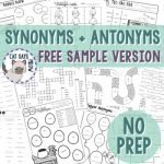 Synonyms and Antonyms Pack by Cat Says Meow