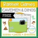 Cavemen & Dinos Barrier Game for Speech Therapy