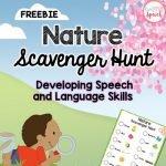 Speech and Language Nature Scavenger Hunt by Kristine Lamb