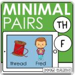 TH vs. F Minimal Pairs Speech BOOM Cards by Goldie Talks Speech