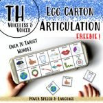 Egg Carton Articulation, TH Articulation by Power Speech and Language