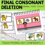 Final Consonant Deletion Minimal Pairs: Teach Phonology Story & Cards by Adventures in Speech Pathology